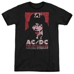 Acdc - Mens High Voltage Live 1975 Ringer T-Shirt