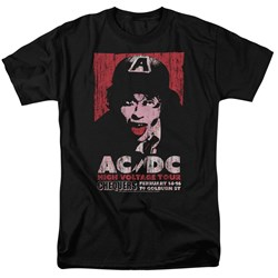 Acdc - Mens High Voltage Live 1975 T-Shirt