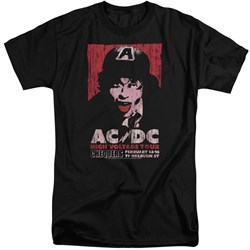 Acdc - Mens High Voltage Live 1975 Tall T-Shirt