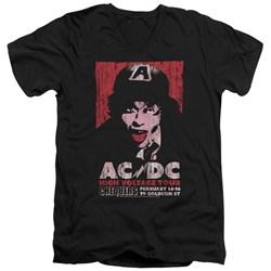 Acdc - Mens High Voltage Live 1975 V-Neck T-Shirt