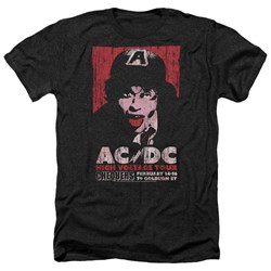 Acdc - Mens High Voltage Live 1975 Heather T-Shirt