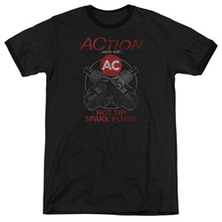 Ac Delco - Mens Cross Plugs Ringer T-Shirt