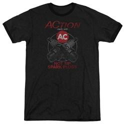 Ac Delco - Mens Cross Plugs Ringer T-Shirt
