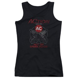 Ac Delco - Juniors Cross Plugs Tank Top