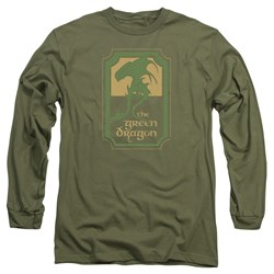 Lord Of The Rings - Mens Green Dragon Tavern Long Sleeve T-Shirt