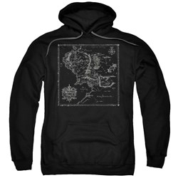 Lord Of The Rings - Mens Map Of Me Pullover Hoodie