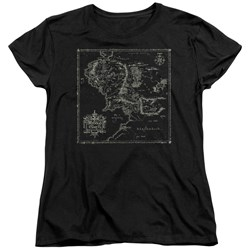 Lord Of The Rings - Womens Map Of Me T-Shirt