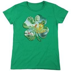 Looney Tunes - Womens Tweety Shamrock T-Shirt