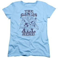 Looney Tunes - Womens Blue Gang T-Shirt