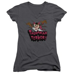 Looney Tunes - Juniors Taz Terror V-Neck T-Shirt
