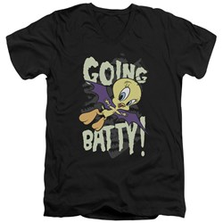 Looney Tunes - Mens Going Batty V-Neck T-Shirt