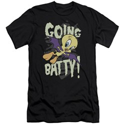 Looney Tunes - Mens Going Batty Premium Slim Fit T-Shirt