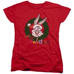 Looney Tunes - Womens Holiday Bunny T-Shirt