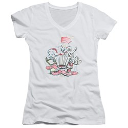 Looney Tunes - Juniors Holiday Sketch V-Neck T-Shirt