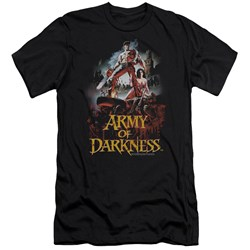 Army Of Darkness - Mens Bloody Poster Premium Slim Fit T-Shirt