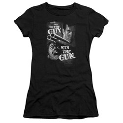 Army Of Darkness - Juniors Guy With The Gun Premium Bella T-Shirt