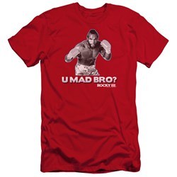 Rocky Iii - Mens U Mad Bro Premium Slim Fit T-Shirt