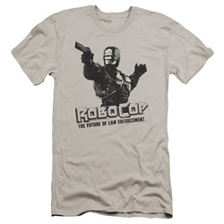 Robocop - Mens Future Of Law Premium Slim Fit T-Shirt