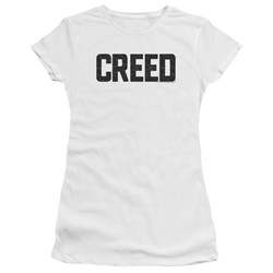 Creed - Juniors Cracked Logo Premium Bella T-Shirt