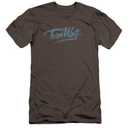 Teen Wolf - Mens Neon Logo Premium Slim Fit T-Shirt