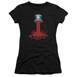 Carrie - Juniors Bucket Of Blood Premium Bella T-Shirt