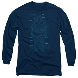 Robocop - Mens Schematic Long Sleeve T-Shirt