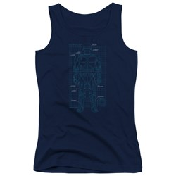 Robocop - Juniors Schematic Tank Top