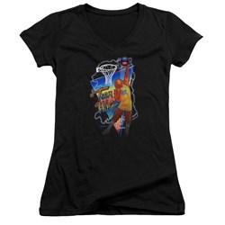 Teen Wolf - Juniors Electric Wolf V-Neck T-Shirt