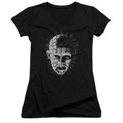 Hellraiser - Juniors Pinhead V-Neck T-Shirt