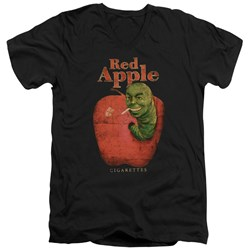 Pulp Fiction - Mens Red Apple V-Neck T-Shirt