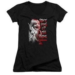 Scream - Juniors Dont Hang Up V-Neck T-Shirt