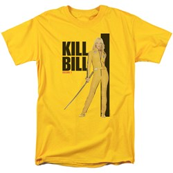 Kill Bill - Mens Yellow Suit Poster T-Shirt