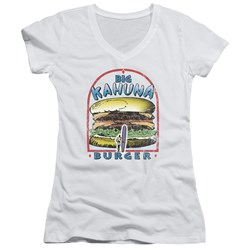 Pulp Fiction - Juniors Big Kahuna Burger V-Neck T-Shirt