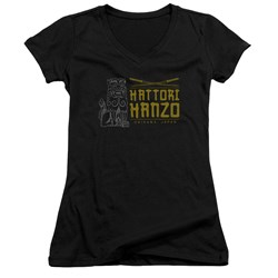Kill Bill - Juniors Hanzo Swords V-Neck T-Shirt