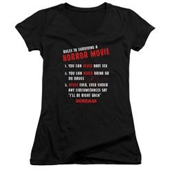 Scream - Juniors Rules V-Neck T-Shirt