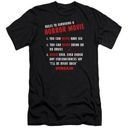 Scream - Mens Rules Premium Slim Fit T-Shirt