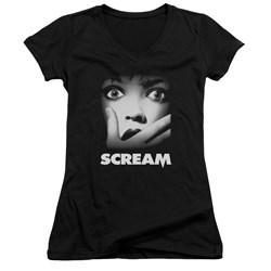 Scream - Juniors Poster V-Neck T-Shirt