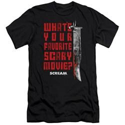 Scream - Mens Favorite Premium Slim Fit T-Shirt