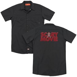 Scary Movie - Mens Logo (Back Print) Work Shirt