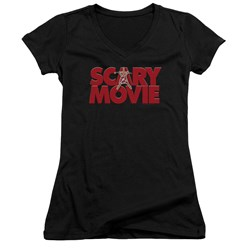 Scary Movie - Juniors Logo V-Neck T-Shirt