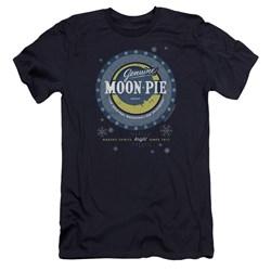 Moon Pie - Mens Snowing Moon Pies Premium Slim Fit T-Shirt