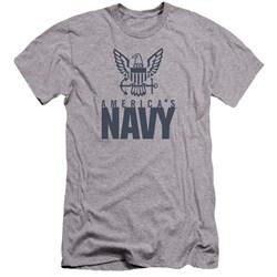 Navy - Mens Eagle Logo Premium Slim Fit T-Shirt