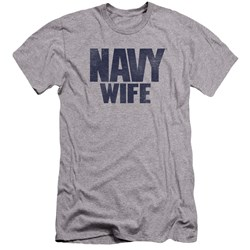 Navy - Mens Wife Premium Slim Fit T-Shirt