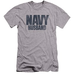 Navy - Mens Husband Premium Slim Fit T-Shirt