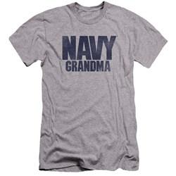 Navy - Mens Grandma Premium Slim Fit T-Shirt