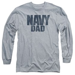 Navy - Mens Navy Person Long Sleeve T-Shirt