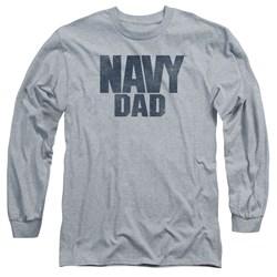 Navy - Mens Navy Person Long Sleeve T-Shirt
