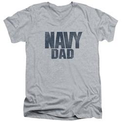 Navy - Mens Navy Person V-Neck T-Shirt