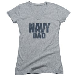 Navy - Juniors Navy Person V-Neck T-Shirt