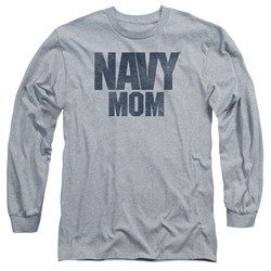 Navy - Mens Navy Mom Long Sleeve T-Shirt